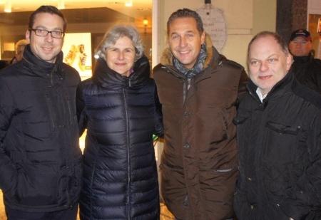 FPÖ St. Pölten mit Barbara Rosenkranz und HC Strache