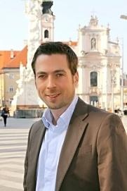 Klaus Otzelberger am Rathausplatz