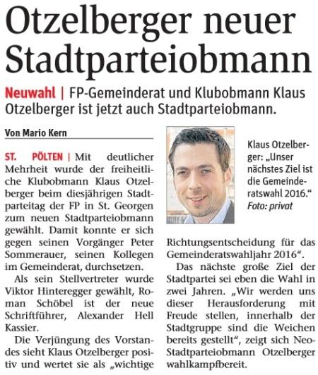 Otzelberger neuer Obmann