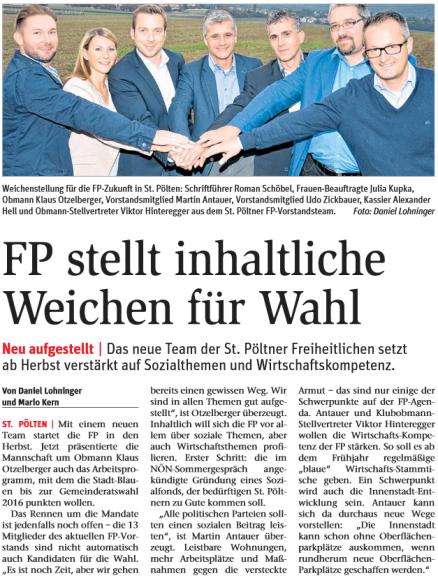 FP stellt Weichen 15.9.2014