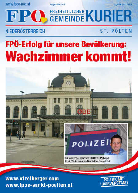 Titelseite Gemeindekurier März 2015
