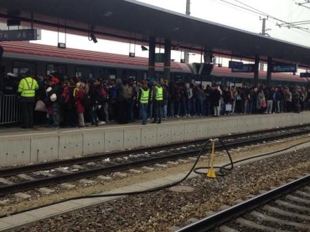 Flüchtlinge Bahnhof St. Pölten