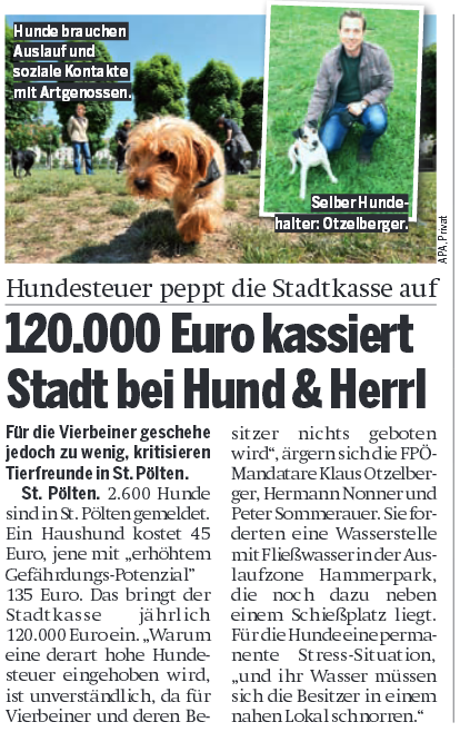 Hundezone in der Österreich 5.10.2015